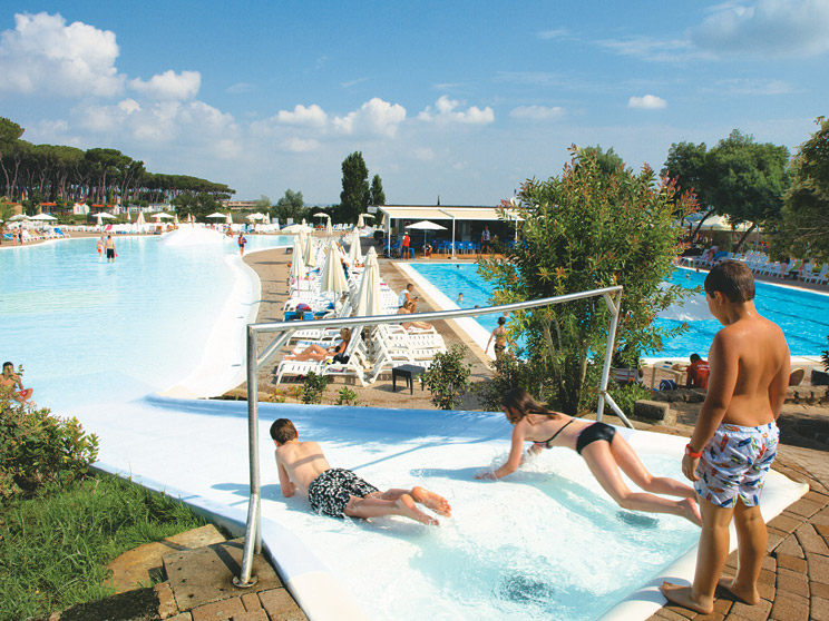 Slides at Village Fabulous near Rome
