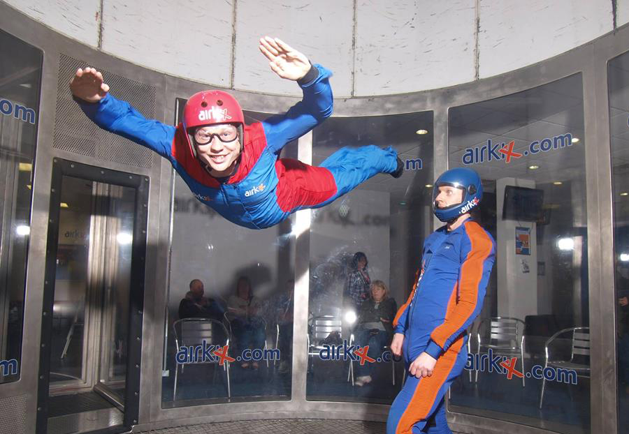 Indoor skydiving at Airkix, Manchester