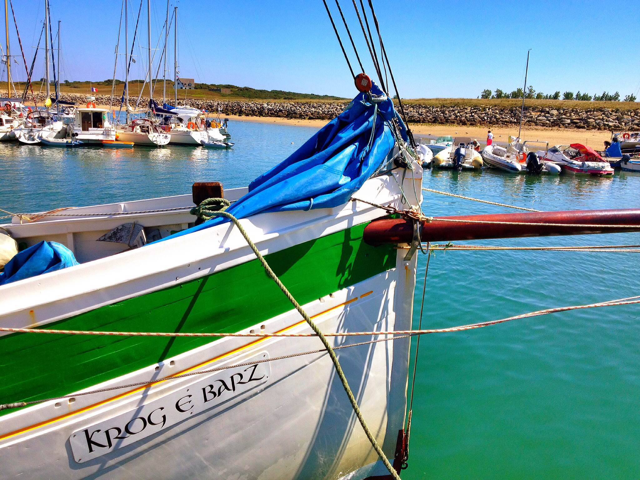 The Krog e Barz sailing boat in Brittany